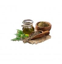 Hemp Seed Oil (Cold Pressed, Glass bottle) - 500ML